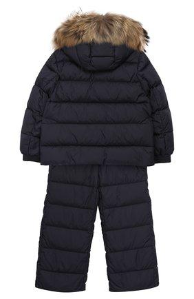 Детский комплект из куртки и комбинезона MONCLER ENFANT синего цвета, арт. D2-954-70331-25-68352/4-6A | Фото 2
