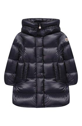Детского пальто с капюшоном MONCLER ENFANT синего цвета, арт. D2-954-49930-49-53052/4-6A   Фото 1