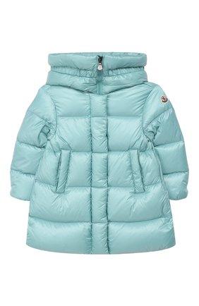 Детского пальто с капюшоном MONCLER ENFANT зеленого цвета, арт. D2-954-49930-49-53052/4-6A   Фото 1