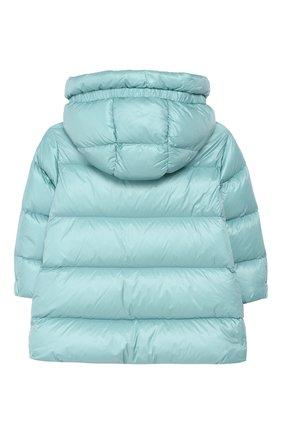 Детского пальто с капюшоном MONCLER ENFANT зеленого цвета, арт. D2-954-49930-49-53052/4-6A   Фото 2