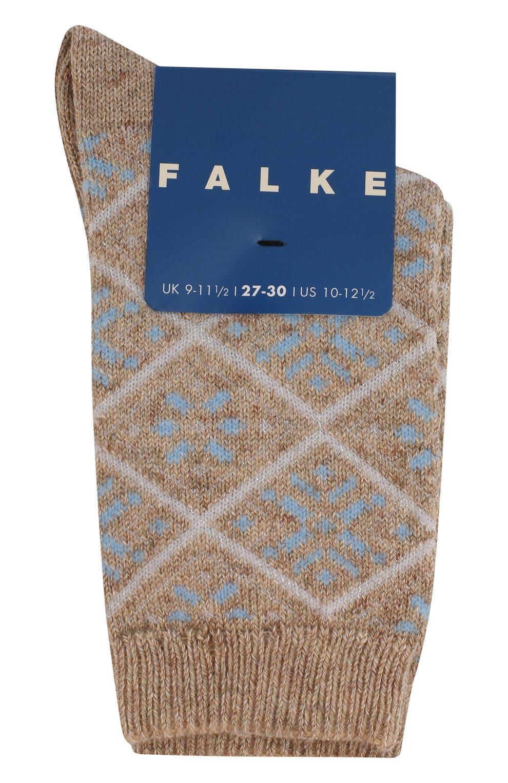 Детские носки с металлизированной отделкой FALKE бежевого цвета, арт. 12168 | Фото 1