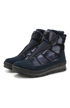 Утепленные текстильные ботинки | Фото №1