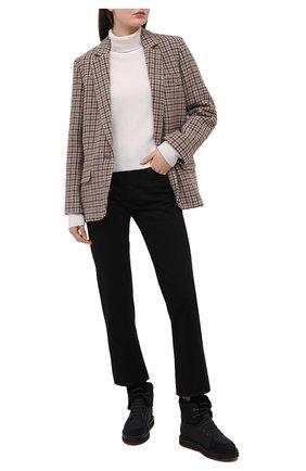 Женские комбинированные ботинки elmira walk с внутренней отделкой из меха нутрии LORO PIANA черного цвета, арт. FAI3418 | Фото 2