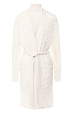 Укороченный кашемировый халат фактурной вязки | Фото №1