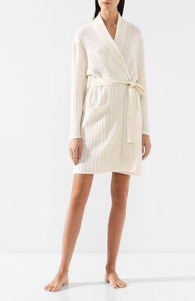 Женский кашемировый халат ARLOTTA белого цвета, арт. 2022 | Фото 2