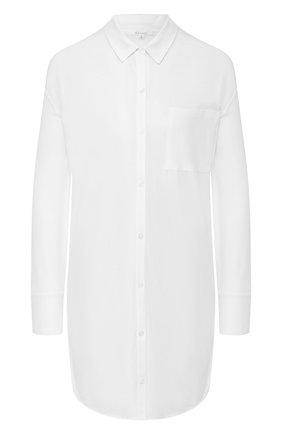 Хлопковая сорочка с накладным карманом | Фото №1
