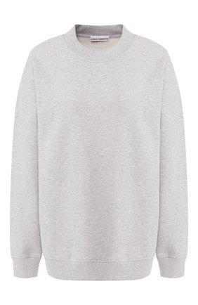Хлопковый пуловер с круглым вырезом   Фото №1