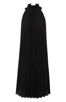 Плиссированное платье-миди из шелка   Фото №1