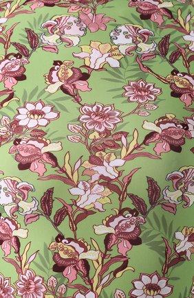 Мини-платье с принтом и воротником-стойкой Vetements зеленое | Фото №5