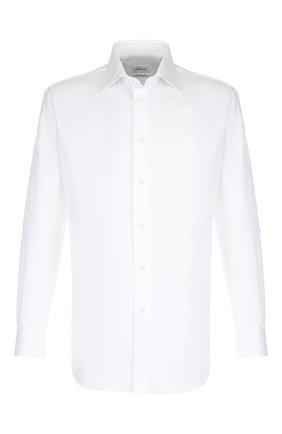 Мужская хлопковая сорочка с воротником кент BRIONI белого цвета, арт. RCLU20/PZ065 | Фото 1