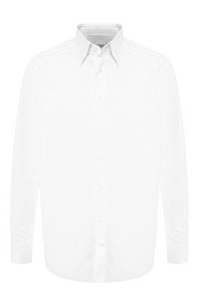 Мужская хлопковая сорочка с воротником кент ZILLI белого цвета, арт. MFQ-MERCU-04211/RZ01 | Фото 1