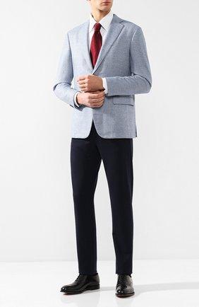 Мужская хлопковая сорочка с воротником кент ZILLI белого цвета, арт. MFQ-MERCU-04211/RZ01 | Фото 2