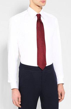 Мужская хлопковая сорочка с воротником кент ZILLI белого цвета, арт. MFQ-MERCU-04211/RZ01 | Фото 4