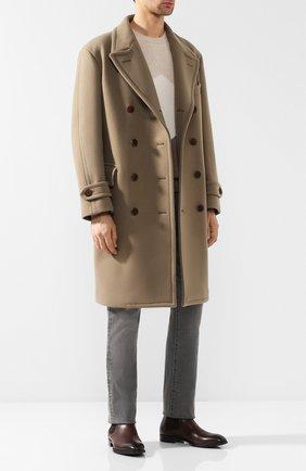 Двубортное пальто прямого кроя | Фото №2