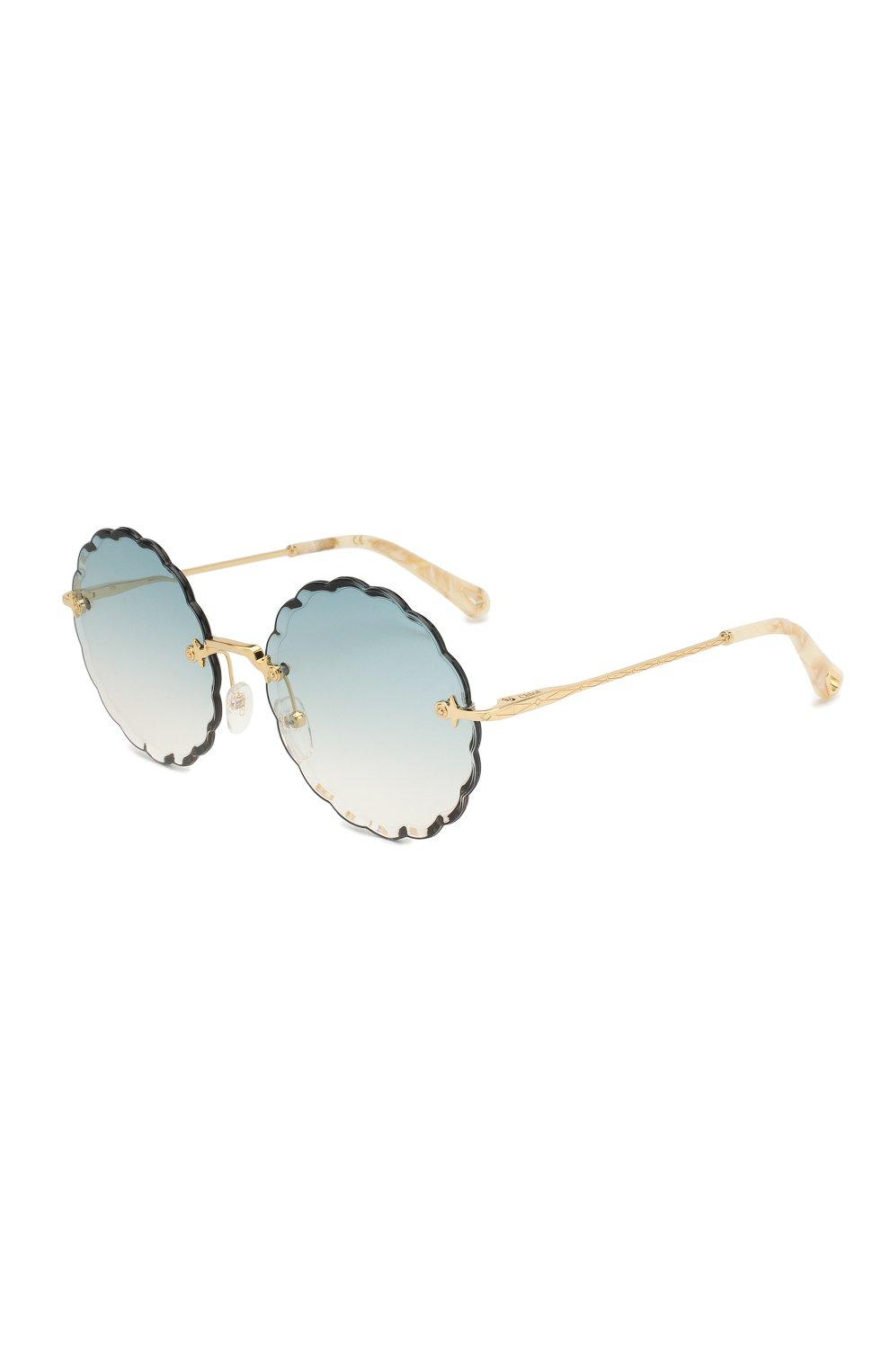 b220ebccc2d1 Женские бирюзовые солнцезащитные очки CHLOÉ — купить за 25100 руб. в ...