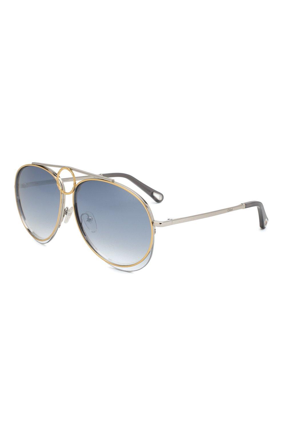 864f86dea2a2 Женские голубые солнцезащитные очки CHLOÉ — купить за 23750 руб. в ...