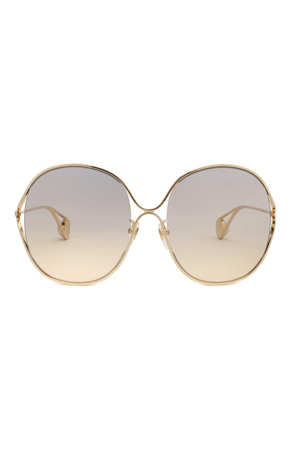 Женские солнцезащитные очки GUCCI золотого цвета, арт. GG0362 003 | Фото 3