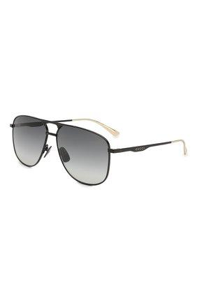 Мужские солнцезащитные очки GUCCI черного цвета, арт. GG0336 002 | Фото 1