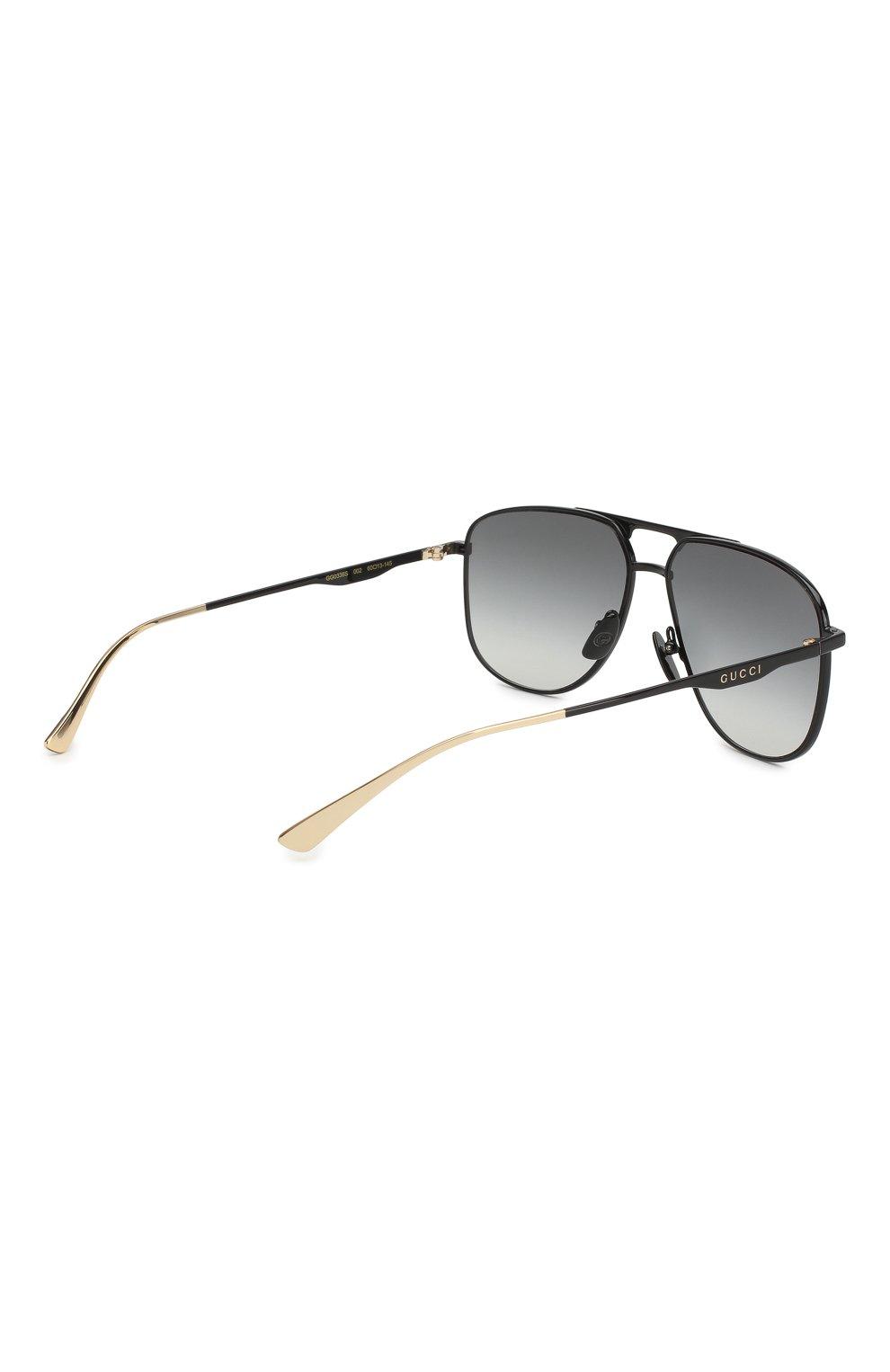 Мужские солнцезащитные очки GUCCI черного цвета, арт. GG0336 002 | Фото 3