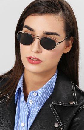 Мужские солнцезащитные очки MAISON MARGIELA черного цвета, арт. MMCRAFT 002/BLACK/DARKGREY | Фото 2