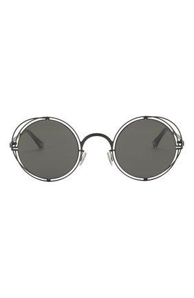 Мужские солнцезащитные очки MAISON MARGIELA черного цвета, арт. MMCRAFT 001/BLACK/DARKGREY | Фото 2 (Статус проверки: Проверена категория, Требуются правки; Тип очков: С/з; Оптика Гендер: оптика-унисекс; Очки форма: Круглые)