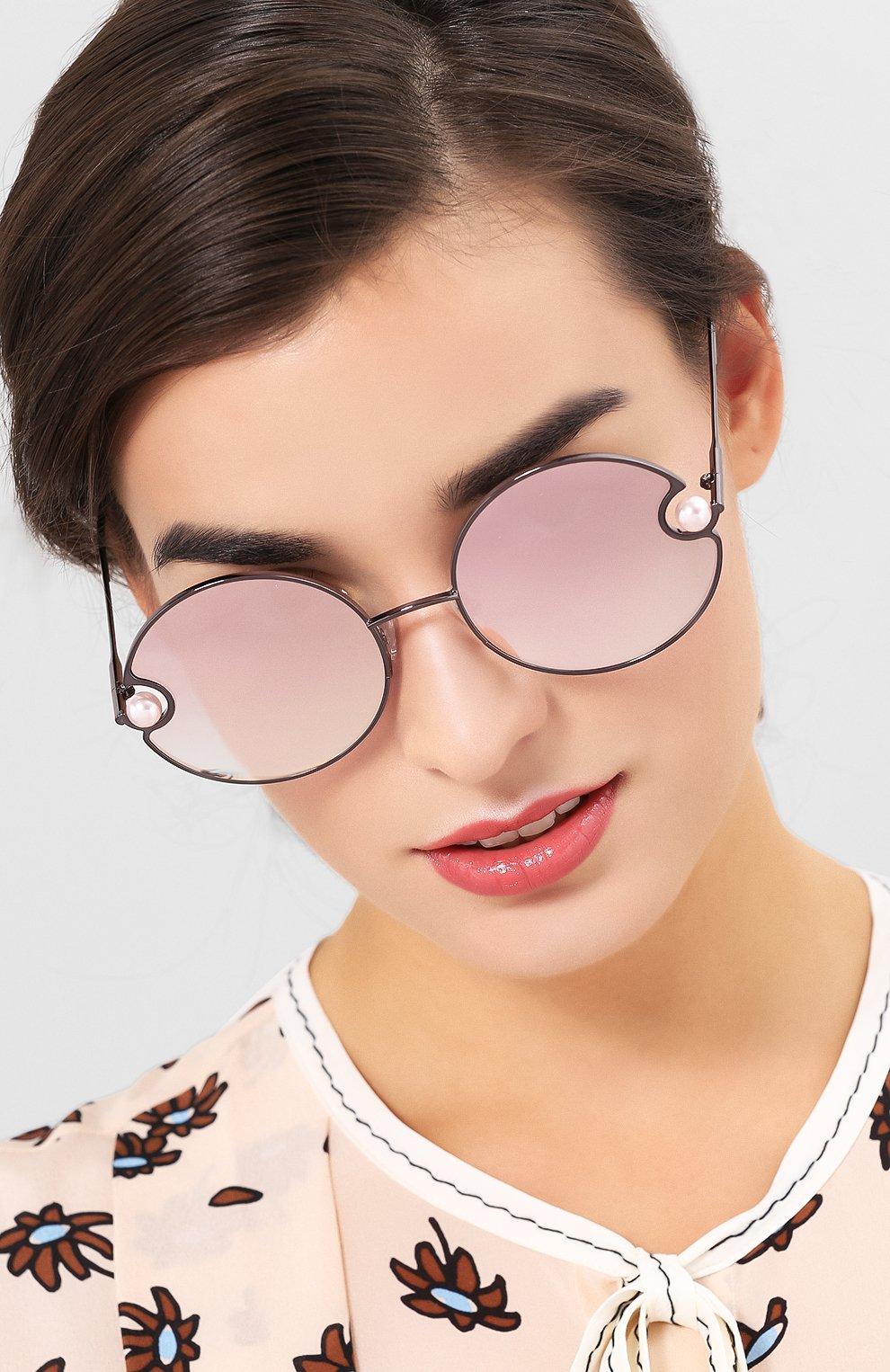 Солнцезащитные очки Christopher Kane розовые | Фото №2