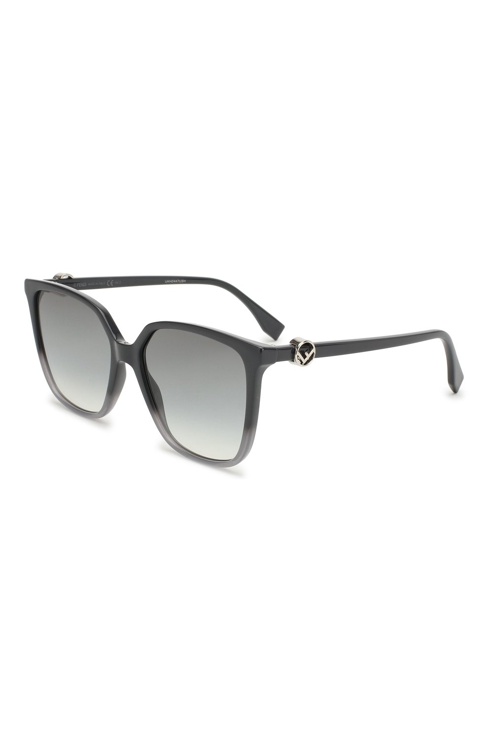 Женские солнцезащитные очки FENDI серого цвета, арт. 0318 KB7 | Фото 1