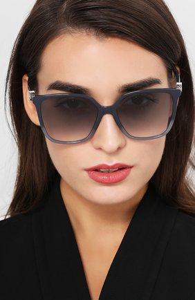Женские солнцезащитные очки FENDI серого цвета, арт. 0318 KB7 | Фото 2
