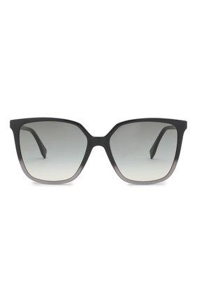 Женские солнцезащитные очки FENDI серого цвета, арт. 0318 KB7 | Фото 3