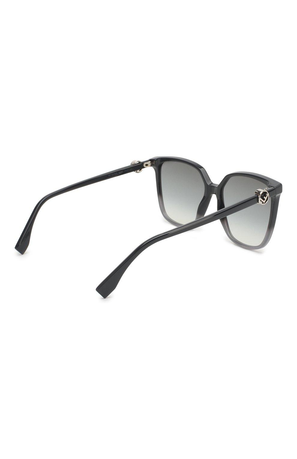 Женские солнцезащитные очки FENDI серого цвета, арт. 0318 KB7 | Фото 4