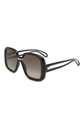 Женские солнцезащитные очки GIVENCHY черного цвета, арт. 7106 807 | Фото 1