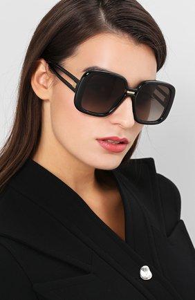 Женские солнцезащитные очки GIVENCHY черного цвета, арт. 7106 807 | Фото 2