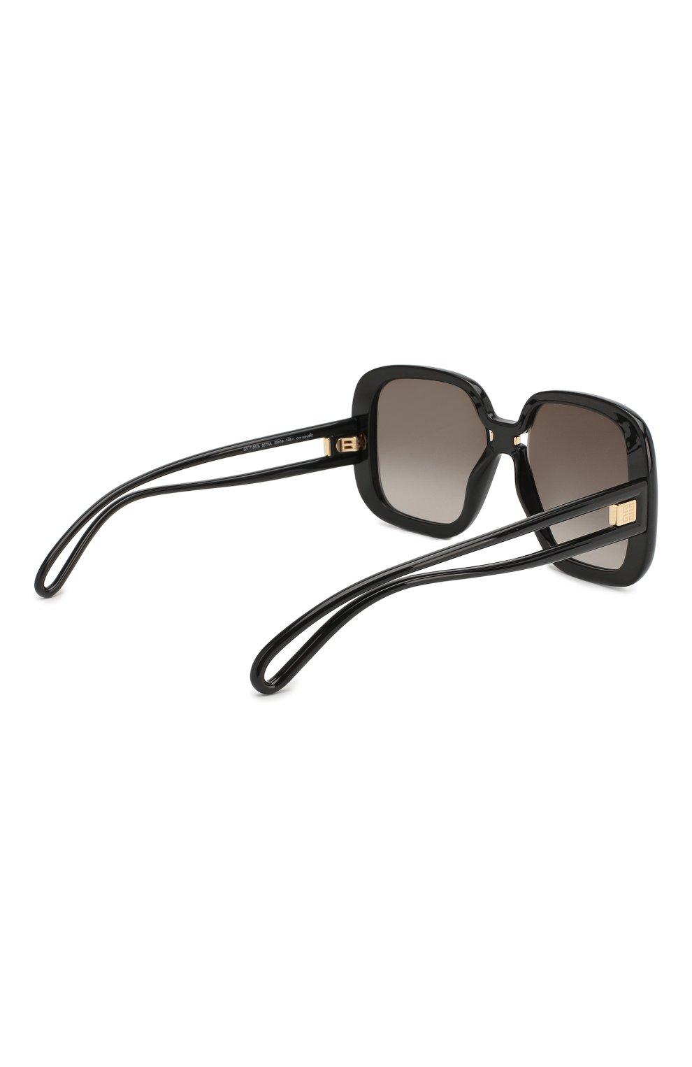 Женские солнцезащитные очки GIVENCHY черного цвета, арт. 7106 807 | Фото 4