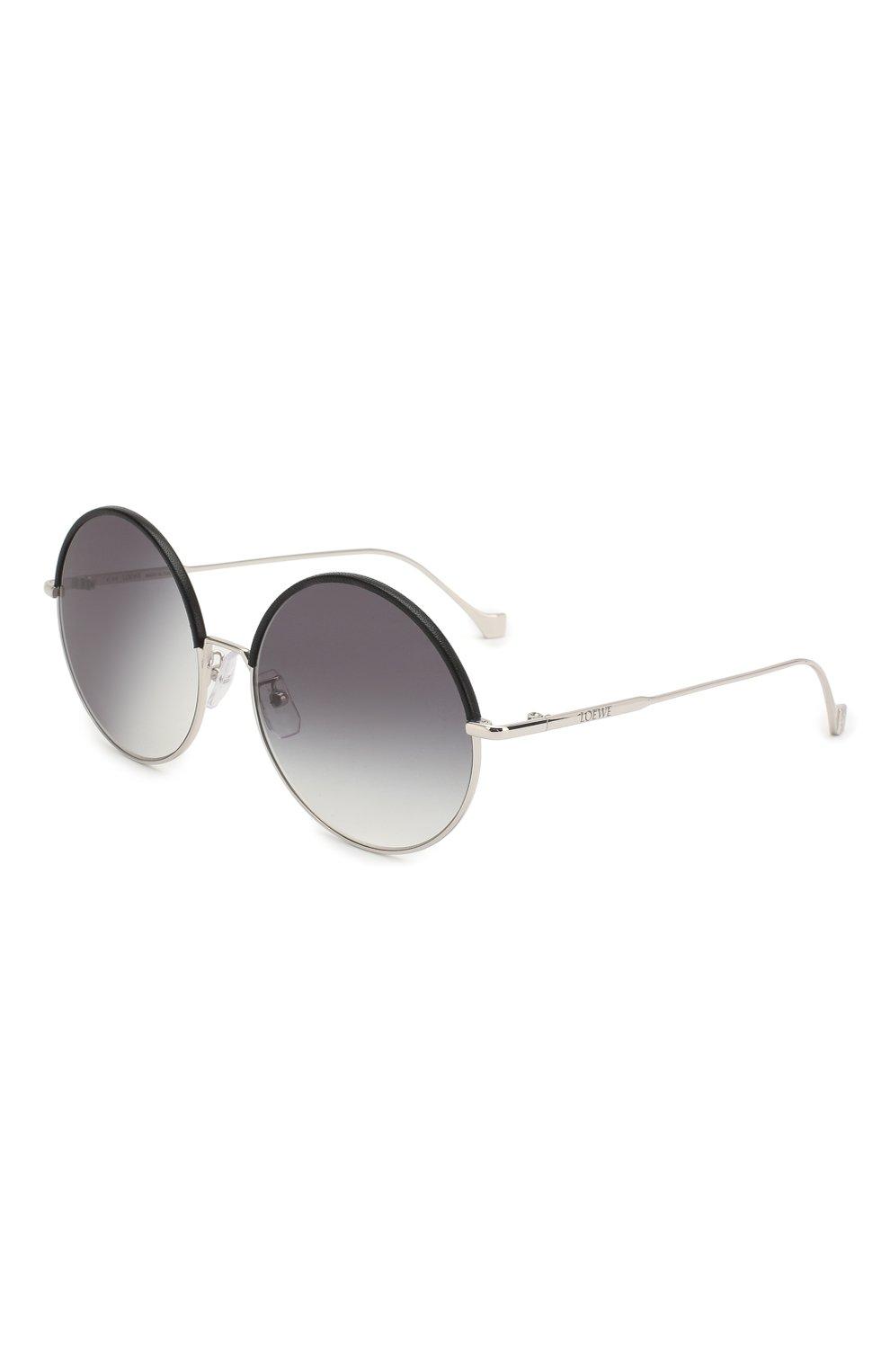 Женские солнцезащитные очки LOEWE серебряного цвета, арт. LW40008U 20B   Фото 1