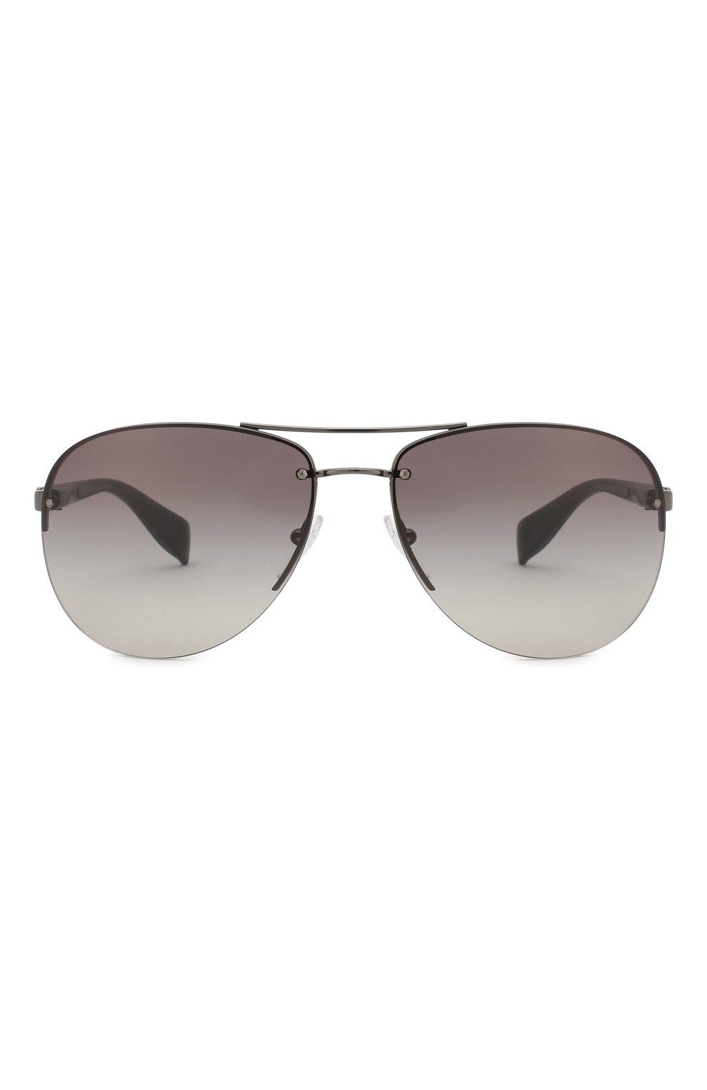 Мужские солнцезащитные очки prada linea rossa PRADA серого цвета, арт. 56MS-5AV3M1   Фото 2