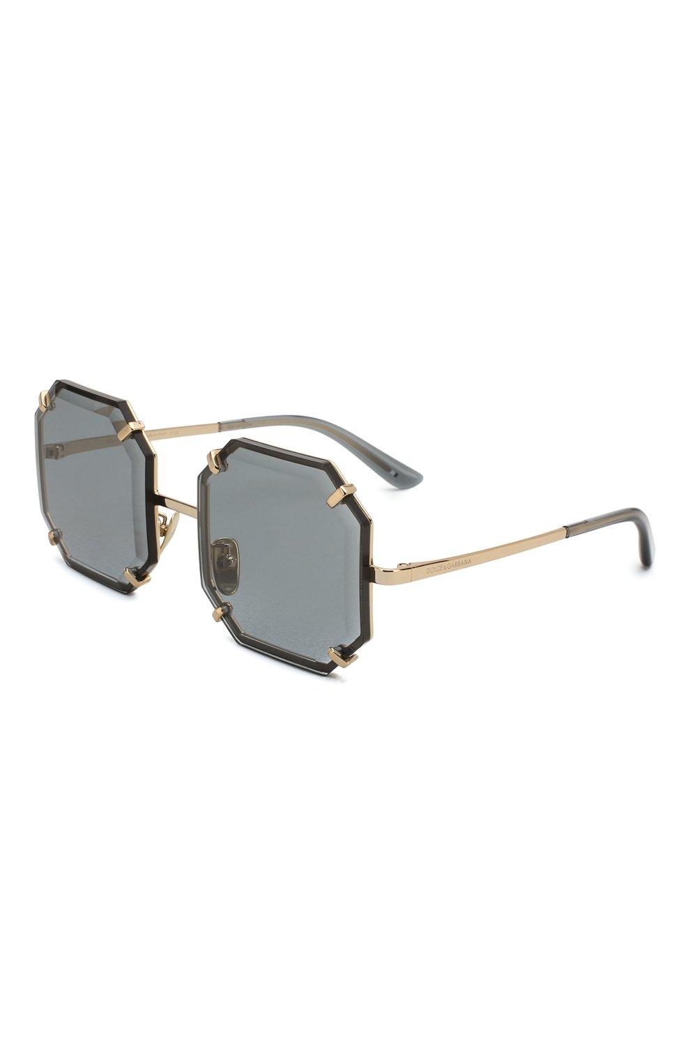 Женские солнцезащитные очки DOLCE & GABBANA серого цвета, арт. 2216-02/87 | Фото 1