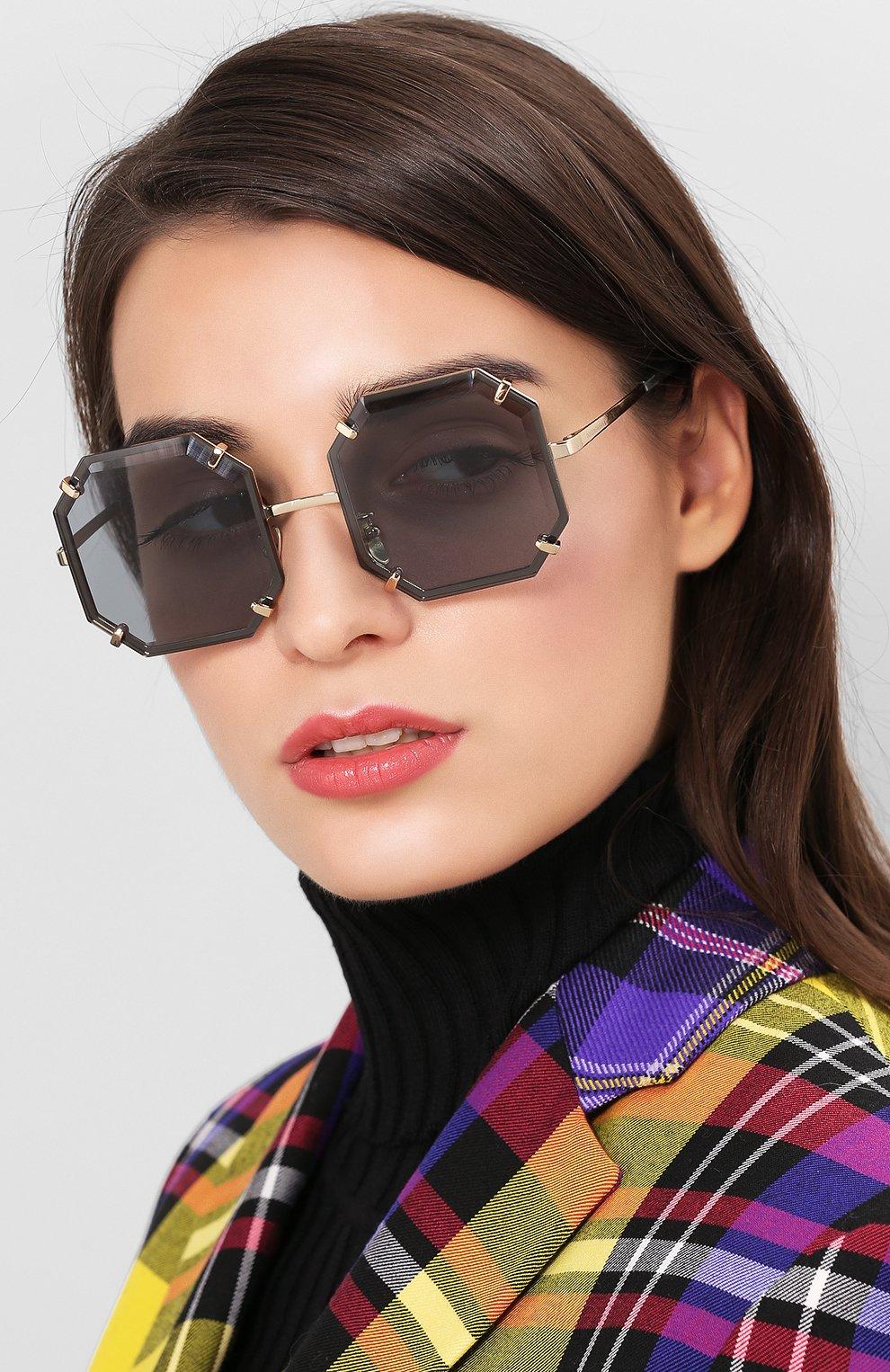 Женские солнцезащитные очки DOLCE & GABBANA серого цвета, арт. 2216-02/87 | Фото 2