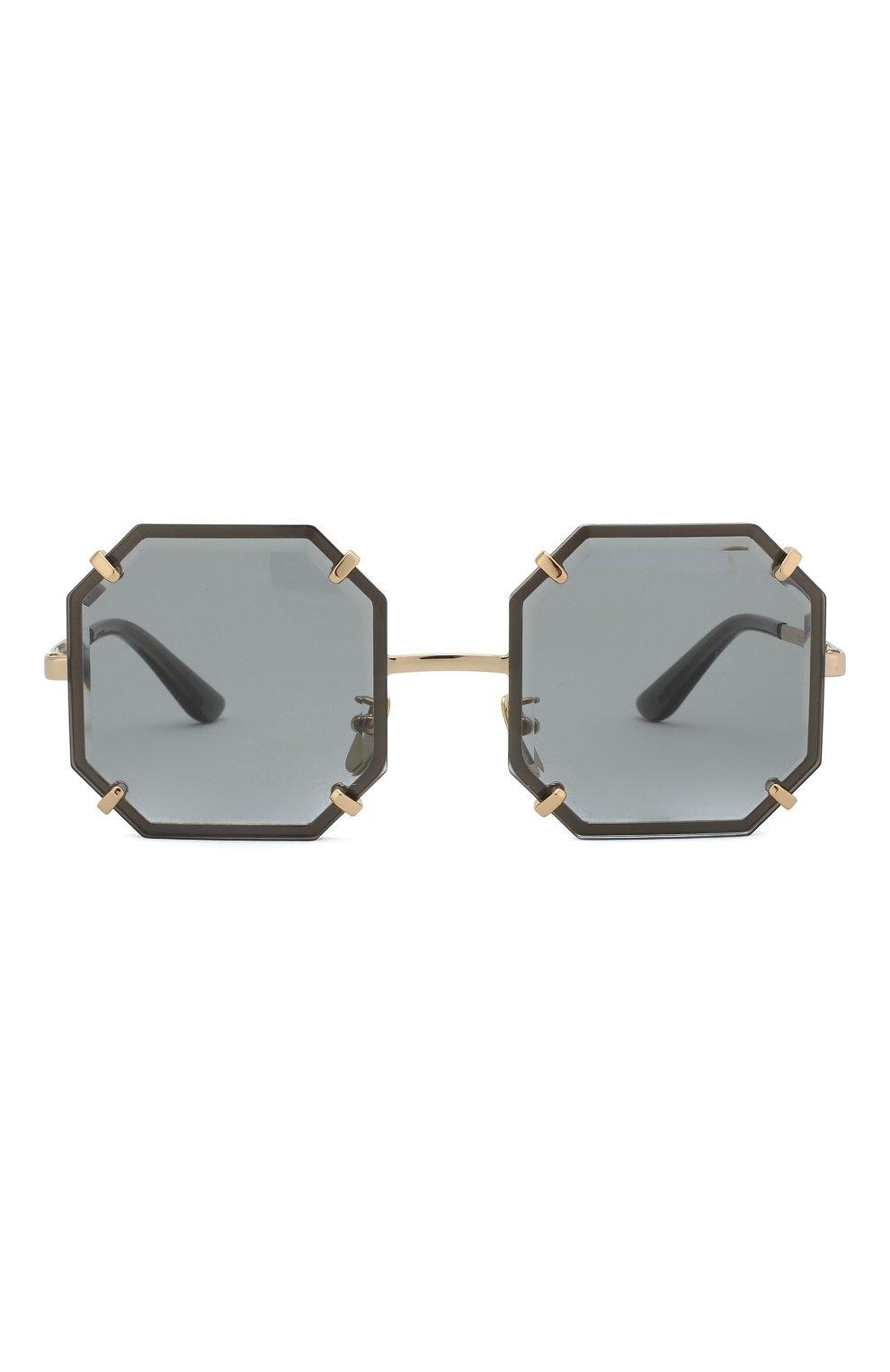 Женские солнцезащитные очки DOLCE & GABBANA серого цвета, арт. 2216-02/87 | Фото 3