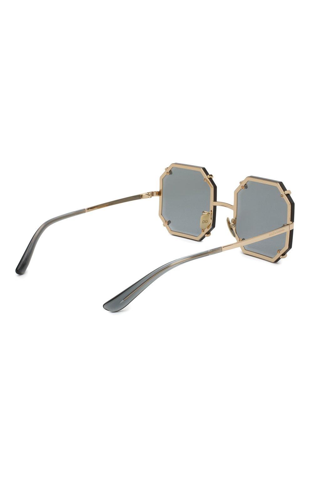 Женские солнцезащитные очки DOLCE & GABBANA серого цвета, арт. 2216-02/87 | Фото 4