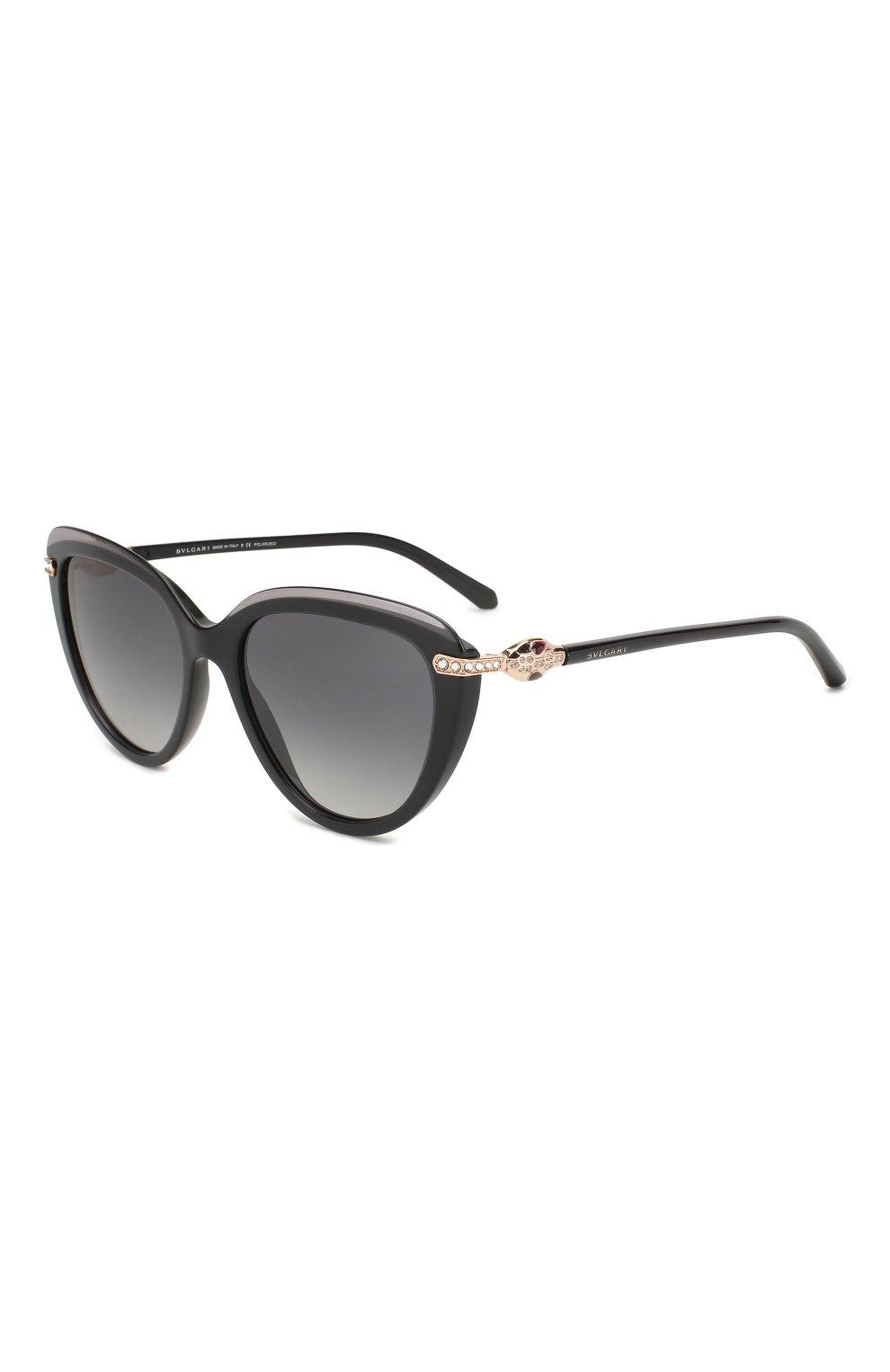 Женские солнцезащитные очки BVLGARI черного цвета, арт. 8211B-5464T3 | Фото 1