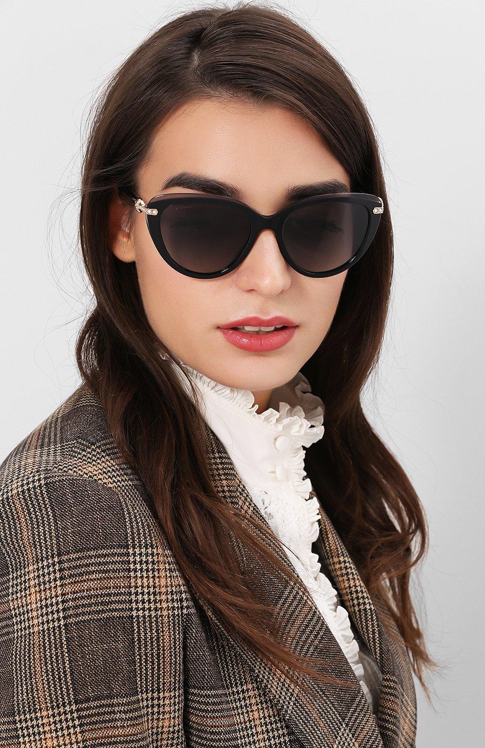 Женские солнцезащитные очки BVLGARI черного цвета, арт. 8211B-5464T3 | Фото 2