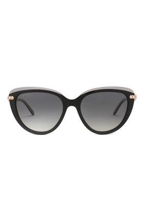Женские солнцезащитные очки BVLGARI черного цвета, арт. 8211B-5464T3 | Фото 3