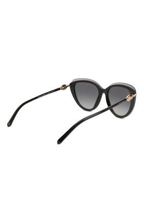 Женские солнцезащитные очки BVLGARI черного цвета, арт. 8211B-5464T3 | Фото 4