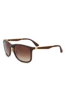 Мужские солнцезащитные очки RAY-BAN коричневого цвета, арт. 4313-894/13 | Фото 1
