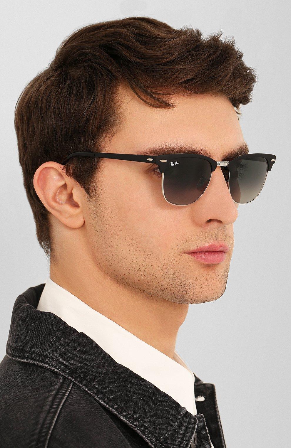 Солнцезащитные очки Ray-Ban серые | Фото №3
