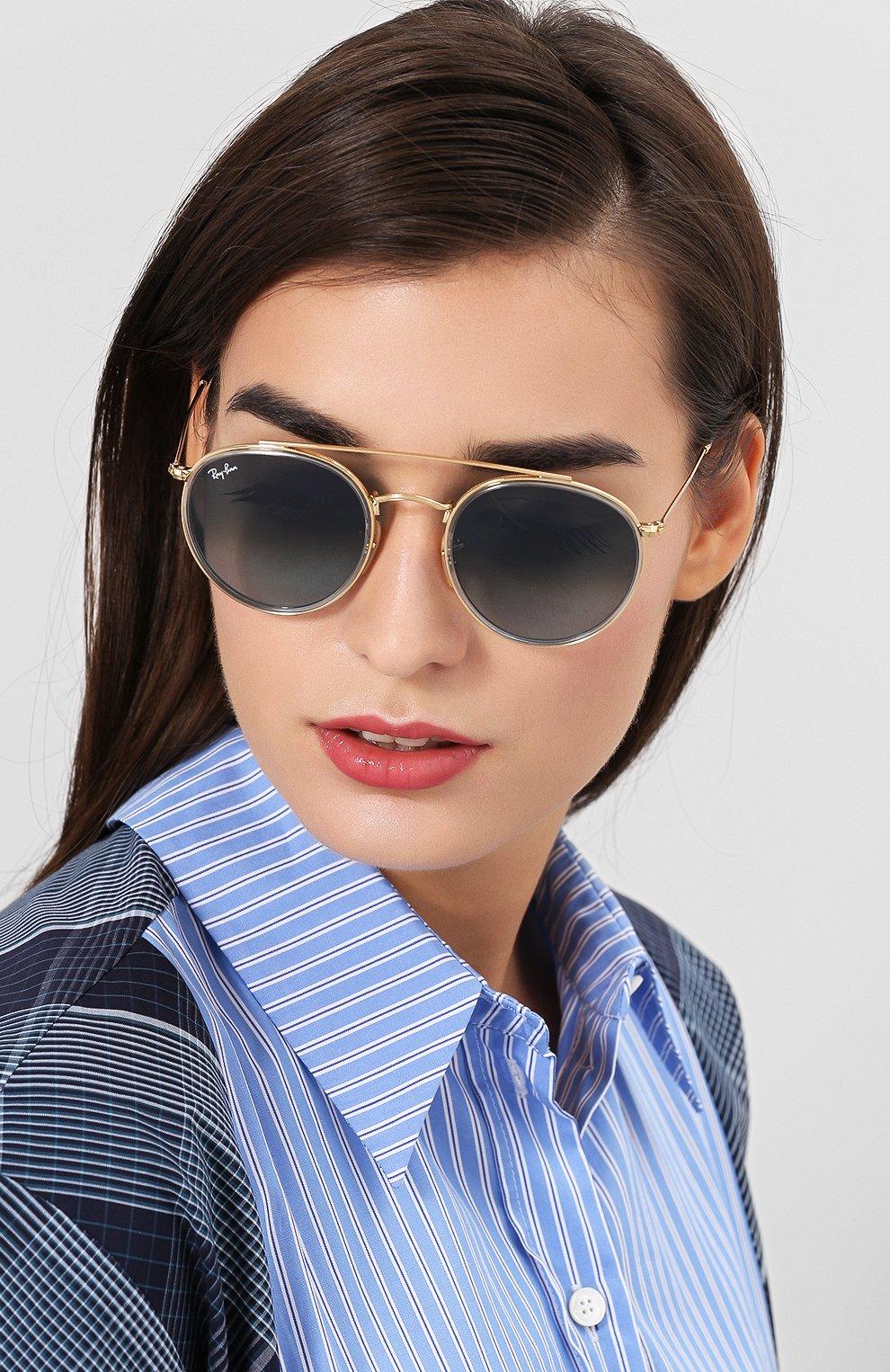 Солнцезащитные очки Ray-Ban голубые   Фото №2