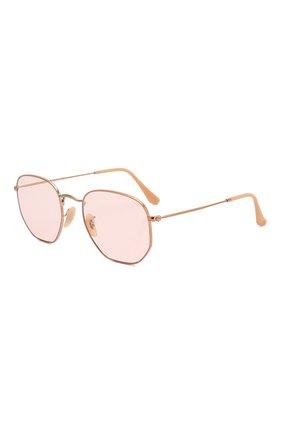 Женские солнцезащитные очки RAY-BAN розового цвета, арт. 3548N-91310X   Фото 1