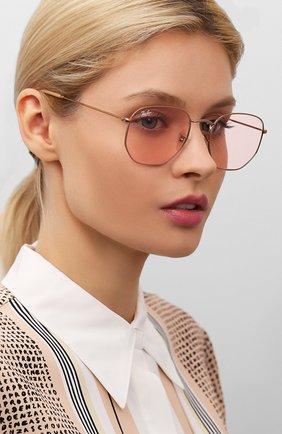 Женские солнцезащитные очки RAY-BAN розового цвета, арт. 3548N-91310X   Фото 2