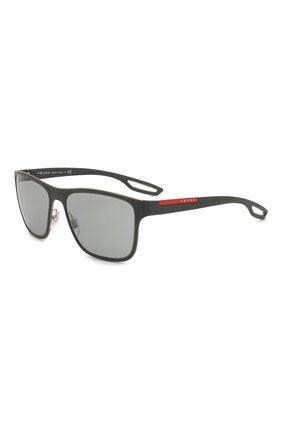 Мужские солнцезащитные очки prada linea rossa PRADA черного цвета, арт. 56QS-TIG3C2 | Фото 1