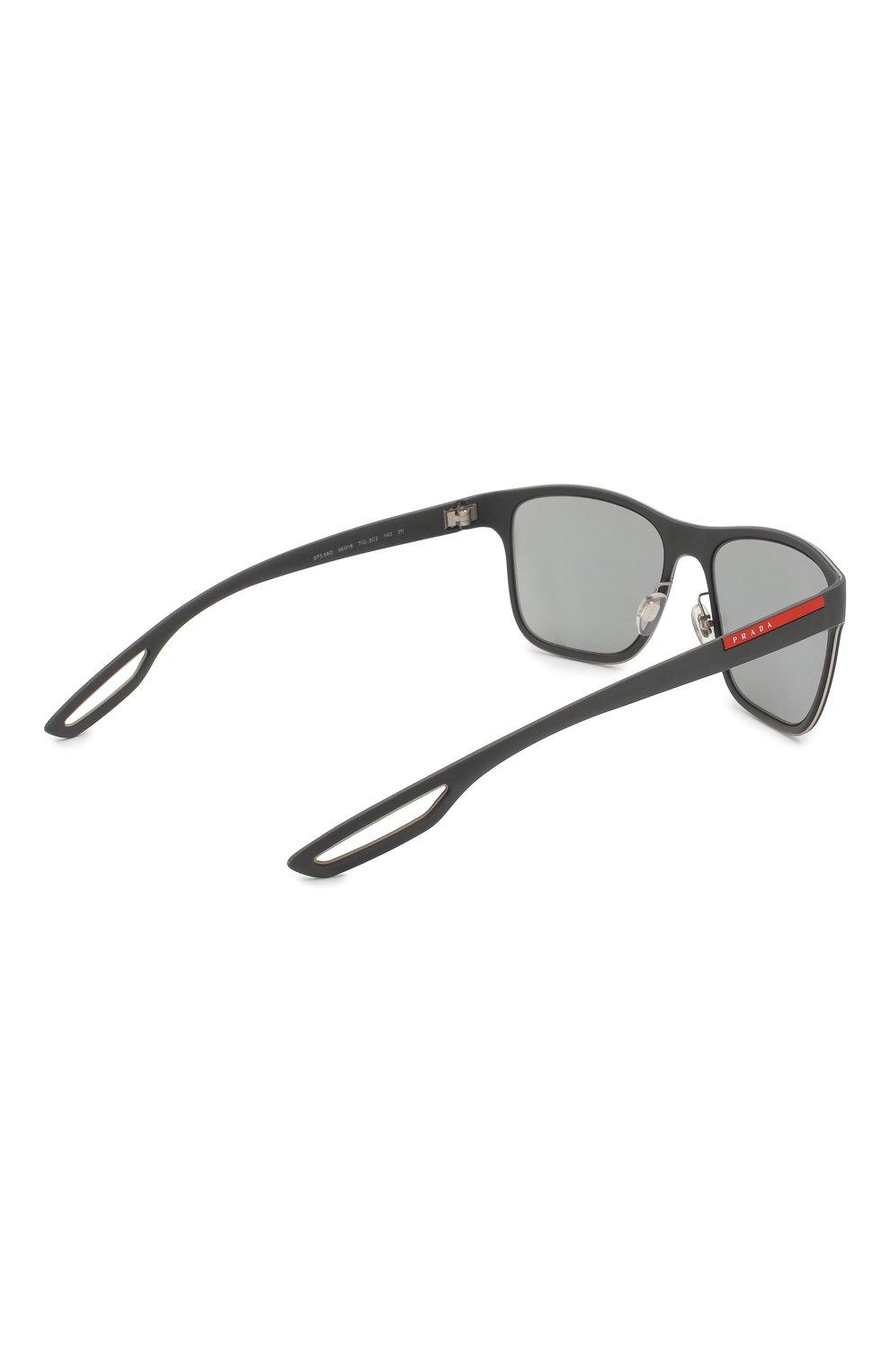 Мужские солнцезащитные очки prada linea rossa PRADA черного цвета, арт. 56QS-TIG3C2 | Фото 3